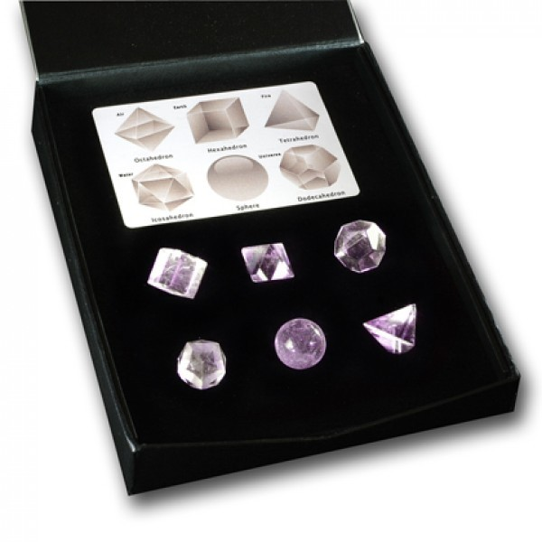 Platonic Solids amethyst  set