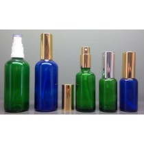 Coloured Glass Spray Mister Bottles Complete