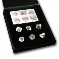 Platonic Solids quartz set