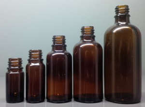 Amber Glass Dropper Bottles