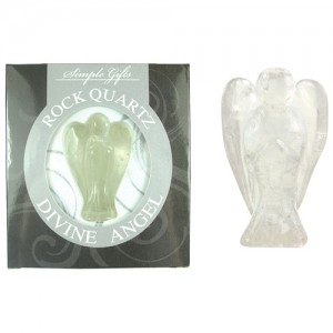 """2"""" Clear Quartz Gemstone Angel"""
