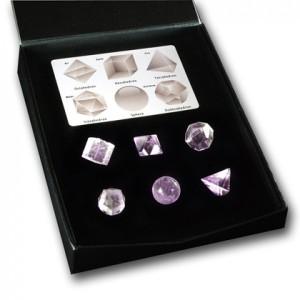 Platonic Solids amethyst  set