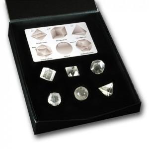 Platonic Solids quartz set